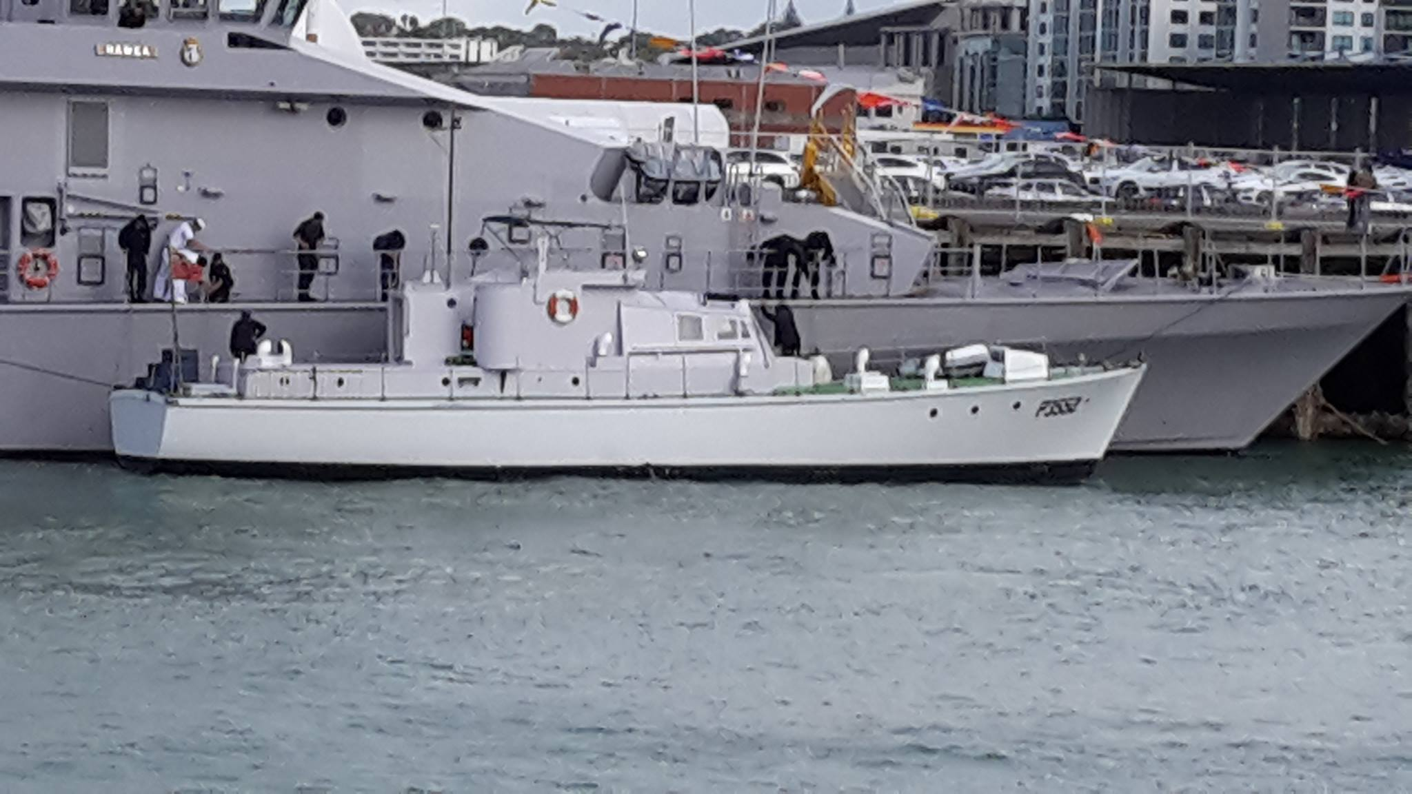 Paea alongside Hawea Navy 75th